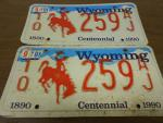 1990 Vintage/Antique License Plates...
