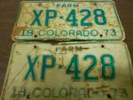 1973 Vintage/Antique License Plates...